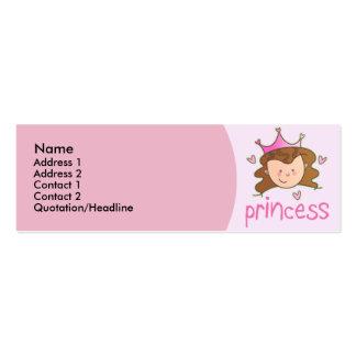 Cartões de visitas triguenhos bonito da princesa M