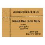 Cartões de visitas tropicais da agência de viagens