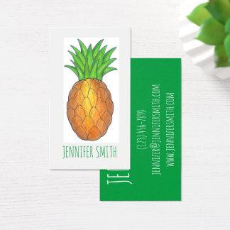 Cartões de visitas tropicais da fruta do abacaxi