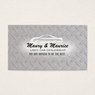 Cartões de visitas usados do concessionário
