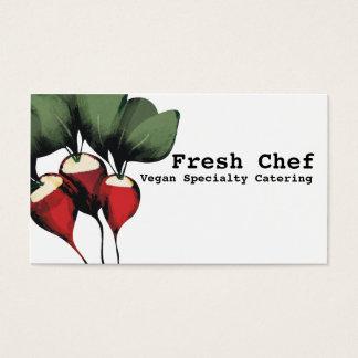 cartões de visitas vegetais da restauração do