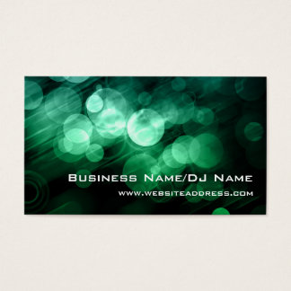 Cartões de visitas verdes & azuis de Bokeh (música