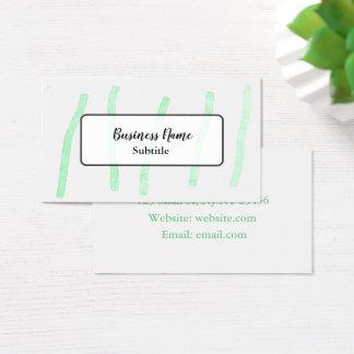 Cartões de visitas verdes de Minimalistic da