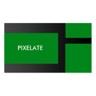 Cartões de visitas verdes do design gráfico do