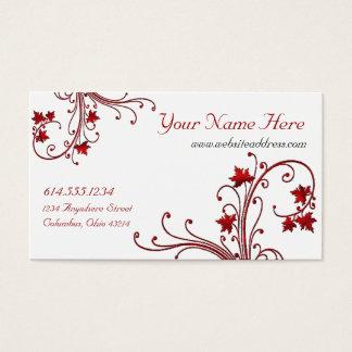 Cartões de visitas vermelhos do design da