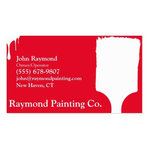 Cartões de visitas vermelhos do pintor