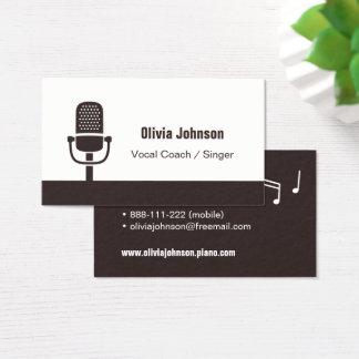 Cartões de visitas vocais do ícone do microfone do