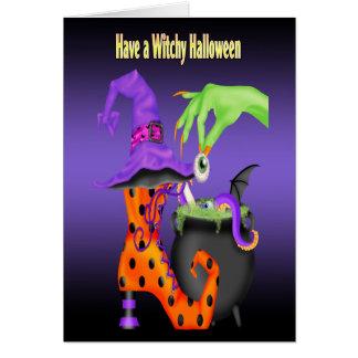 Cartões de Witchy o Dia das Bruxas