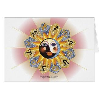 Cartões de Yin Yang da astrologia