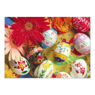 Cartões decorativos do convite dos ovos da páscoa