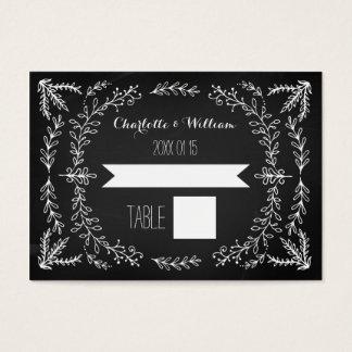 Cartões do ajuste de lugar do casamento do quadro