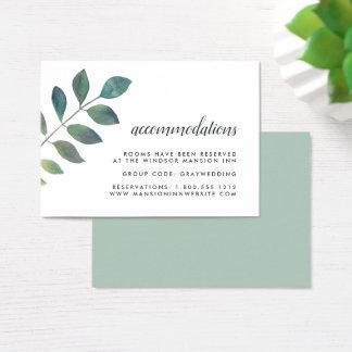 Cartões do alojamento em hotel do casamento de