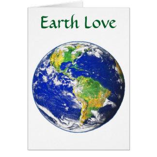 Cartões do amor da terra