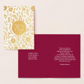 cartões do aniversário de casamento do 70
