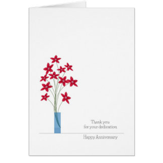 Cartões do aniversário do empregado, flores