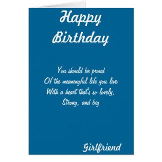 Cartões do aniversário do namorada