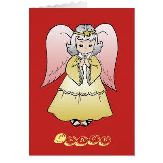 Cartões do anjo dos cartões de natal
