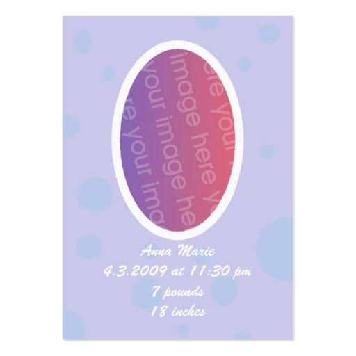 Cartões do anúncio da foto do bebê dos sonhos cartão de visita