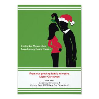 Cartão cartões do anúncio da gravidez do Natal 5x7 -