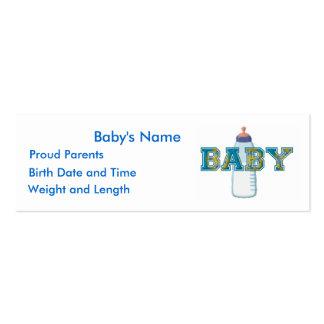 Cartões do anúncio do BEBÊ Cartão De Visita Skinny