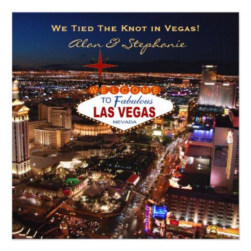 Cartões do anúncio do casamento de Las Vegas Convites