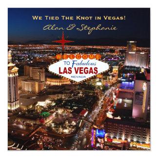 Cartões do anúncio do casamento de Las Vegas Convite Quadrado 13.35 X 13.35cm
