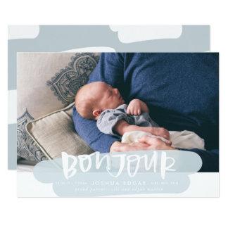 Cartões do anúncio do nascimento da nuvem de