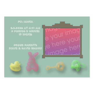 Cartões do anúncio do nascimento dos artigos do cartão de visita grande