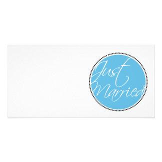 Cartões do anúncio do recem casados cartão com foto
