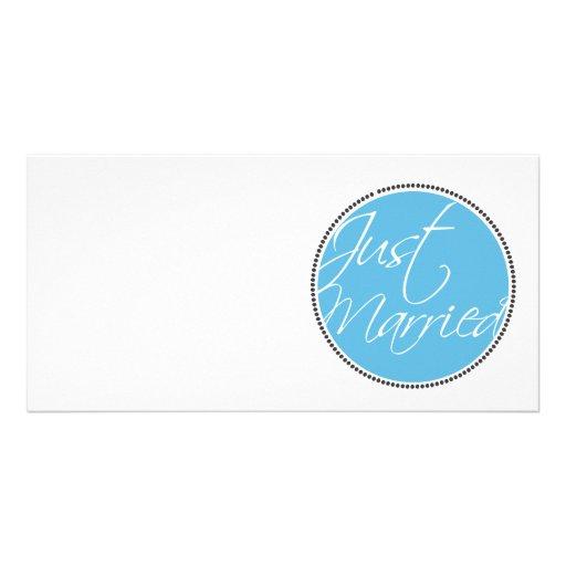 Cartões do anúncio do recem casados cartão com fotos