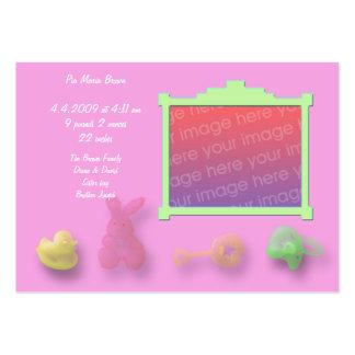Cartões do anúncio dos artigos do bebê cartão de visita grande