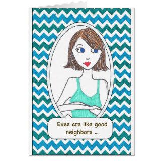 Cartões do apoio do Ex-Esposo