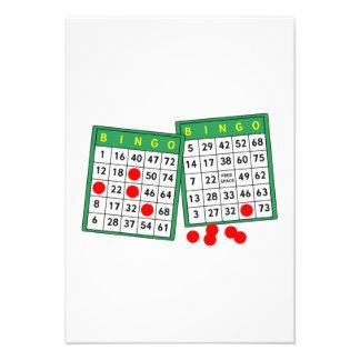 Cartões do Bingo Convite