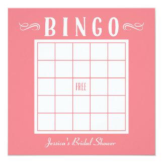 Cartões do Bingo de Bachelorette, de bebê ou de Convite Quadrado 13.35 X 13.35cm