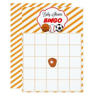 Cartões do Bingo do bebê do presente do vazio do Convite 12.7 X 17.78cm
