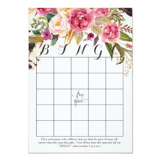 cartões do Bingo do chá das flores da aguarela do Convite 12.7 X 17.78cm