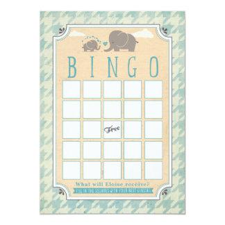 Cartões do Bingo do chá de fraldas
