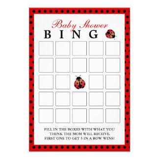 Cartões do Bingo do chá de fraldas das bolinhas do Convite Personalizados