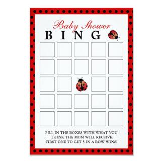 Cartões do Bingo do chá de fraldas das bolinhas do Convite 8.89 X 12.7cm
