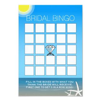 Cartões do Bingo do chá de panela da praia do Convite 8.89 X 12.7cm