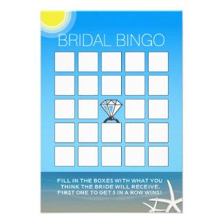 Cartões do Bingo do chá de panela da praia do verã