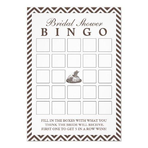 Cartões do Bingo do chá de panela da senhora Chapé Convite Personalizados