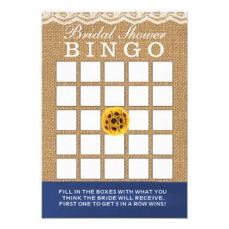 Cartões do Bingo do chá de panela de serapilheira