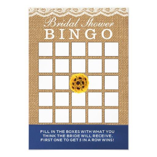 Cartões do Bingo do chá de panela de serapilheira  Convites Personalizados