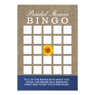 Cartões do Bingo do chá de panela de serapilheira  Convite Personalizados
