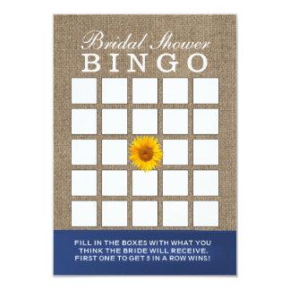 Cartões do Bingo do chá de panela de serapilheira Convite 8.89 X 12.7cm