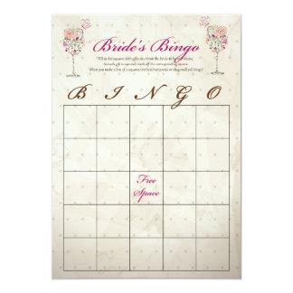 Cartões do Bingo do chá de panela do vinho Convite 12.7 X 17.78cm