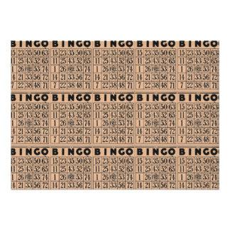 cartões do bingo do vintage convite personalizados