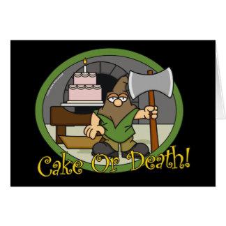 Cartões do bolo ou da morte