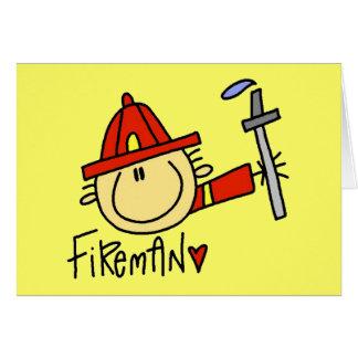 Cartões do bombeiro